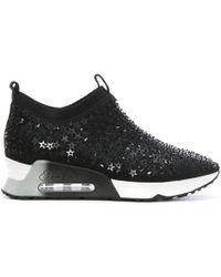 Ash - Lighting Star Black Neoprene High Top Sneakers - Lyst