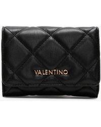 Valentino By Mario Valentino Ocarina Black Quilted Wallet