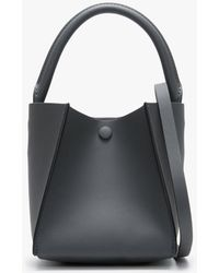 Sophie Hulme Nano Cube Charcoal Leather Shoulder Bag - Black