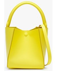 Sophie Hulme Nano Cube Canary Yellow Leather Shoulder Bag
