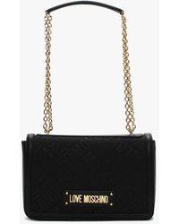 Love Moschino Borsa Jacquard Pu Cross-body Bag - Black