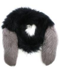 Oakwood - Long Island Grey Fur Stole - Lyst
