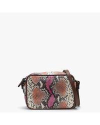 Daniel Footwear Fuchsia Reptile Leather Cross-body Bag - Multicolour