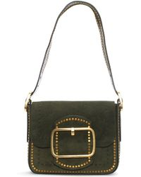Tory Burch - Sawyer Boxwood Suede Shoulder Bag - Lyst