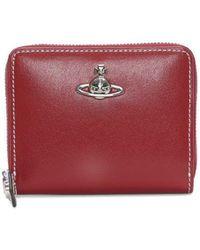 Vivienne Westwood - Matilda Small Red Leather Zip Around Wallet - Lyst
