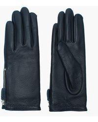 Agnelle Zipped Gloves - Blue