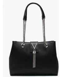 Valentino By Mario Valentino Ranma Black Diamante Embellished Tote Bag