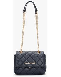 Valentino By Mario Valentino Ocarina Blue Quilted Cross-body Bag