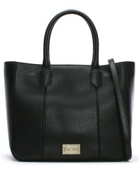 Emporio Armani - Pebbled Black Tote Bag - Lyst