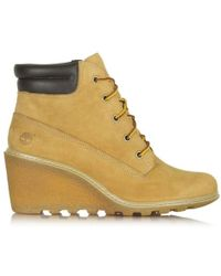 Timberland Amston Wedge Wheat Leather Ankle Boot - Multicolour