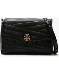 Tory Burch Kira Chevron Black Leather Cross-body Bag Accessories: One