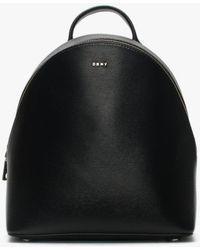 DKNY - Medium Bryant Black Leather Textured Backpack - Lyst