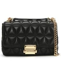 Michael Kors Small Sloan Black Quilted Leather Cross-body Bag