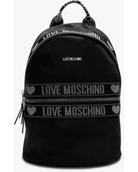 Love Moschino Logo Black Nylon Blackpack