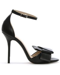 Bronx - Black Leather Knotted Sandals - Lyst