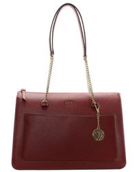 DKNY - Char Saffiano Scarlet Leather Tote Bag - Lyst