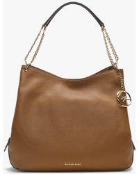 Michael Kors - Large Lillie Acorn Pebbled Leather Shoulder Tote Bag - Lyst