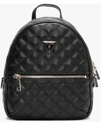 Guess Cessily Quilted Black Backpack