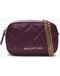 Valentino By Mario Valentino Ocarina Purple Quilted Chain Strap Belt Bag