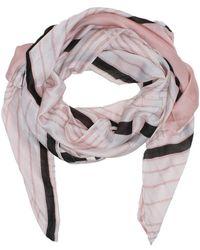 Daniel - Stripe Pink Silk Scarf - Lyst