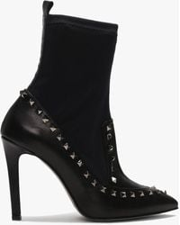 Daniel - Dinisty Black Leather Studded Ankle Boots - Lyst