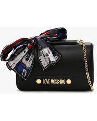 Love Moschino Black Chain Shoulder Bag