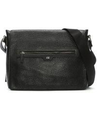 Class Roberto Cavalli - Empire Black Leather Messenger Bag - Lyst