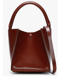 Sophie Hulme Nano Cube Brown Leather Shoulder Bag