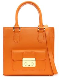 8aa0de53a3 Daniel - Muddler Small Orange Leather Structured Tote Bag - Lyst