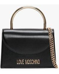 Love Moschino Top Handle Black Satchel Bag