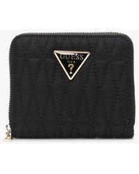 Guess Small Layla Black Zip Around Wallet