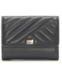 Class Roberto Cavalli - Idol Pewter Leather Quilted Purse - Lyst