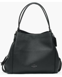 COACH - Edie 31 Cypress Pebbled Leather Shoulder Bag - Lyst