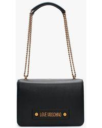 Love Moschino Studded Logo Black Shoulder Bag