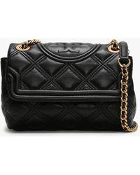Tory Burch Fleming Soft Small Convertible Shoulder Bag - Black