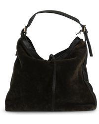 Daniel Bayas Green Leather Hobo Bag - Black