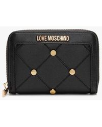 Love Moschino Studded Black Coin Purse Bke One-size