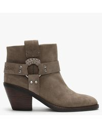 See By Chloé 80 Taupe Suede Ankle Boots - Brown