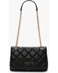 Valentino By Mario Valentino Ocarina Black Quilted Satchel Bag