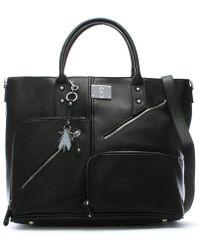 Fly London - Guip Black Asymmetric Zips Day Bag - Lyst