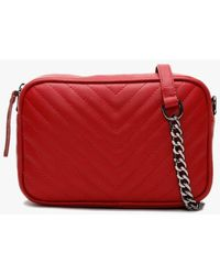 Daniel Delilah Red Leather Quilted Cross-body Bag