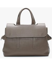 Daniel Diller Taupe Grainy Leather Day Bag - Brown