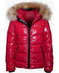 Oakwood Universal Red Shiny Nylon Padded Jacket