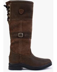 Ariat Langdale H20 Java Leather Knee Boots - Brown