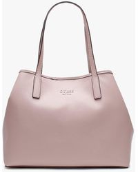 Guess Vikky Smooth Pink Slouchy Tote Bag