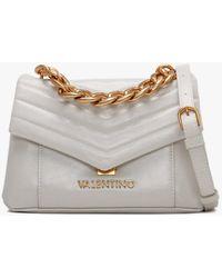 Valentino By Mario Valentino Small Grifone Cartella White Cross-body Bag