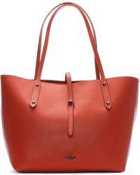 COACH - Market Polished Metallic Brick Leather Tote Bag - Lyst