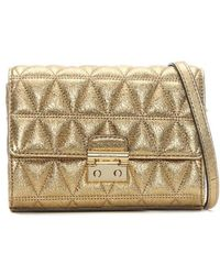 Michael Kors - Ruby Ii Gold Leather Quilted Clutch Bag - Lyst