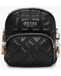 Guess Kamina Quilted Black Backpack
