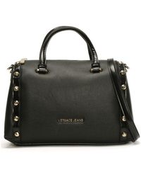 Versace Jeans - Raft Black Textured Bowling Bag - Lyst